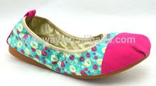 2014 Popular Style Women Fold up Ballerina Shoes
