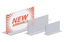 t shape acrylic menu label holder logo show for wholesale