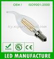 2014 El más nuevo diseño 4w led lámpara de filamento, E14 A35 led lámpara de filamento