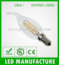 2014 Newest design 4w led filament bulb, E14 A35 led filament lamp