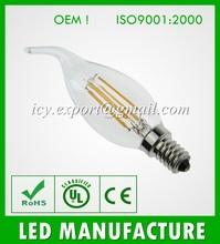 2014 Newest design 4w led filament bulb, E14 A35 led filament lamp