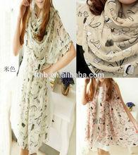 2012 new korean Fashion Chiffon Silk Feeling Shawl scarf,