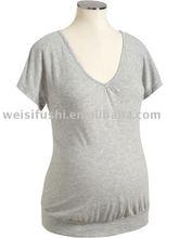 Maternity Deep V-Neck Tees Dress