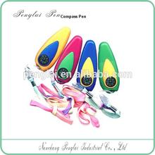 promotion custom logo plastic compass cord ball pen