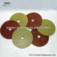 Diamond tools for granite and marble polishing