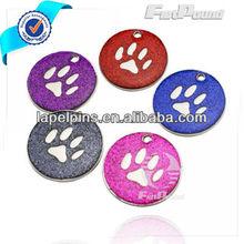 Disc Glitter Enameling Pet ID Tags