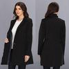 2014 new hot sale ladies long coat design Dongguan manufacture
