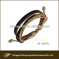 Leather braided new fashion bracelet unisex bracelet
