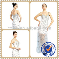 2012 New style White Long Design Slim Handmade Beading Evening Dress MY-12065B
