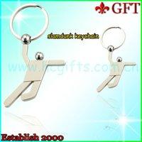 Lead free slamdunk keychain-K112