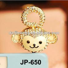 Monkey Design Luxury Anti Animal Dust Plug For Mobile Phone Jack Plug Pins earphone cap 3.5mm ear hole star shaped