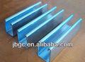 perfil de acero galvanizado para uso 60 serie de perfiles de pvc para marcos de ventanas