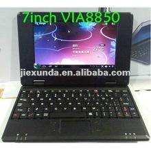 7inch via8850 web camera, external 3G mini laptop