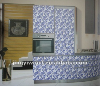 beautiful flower design UV paint/High glossy UV mdf board for Cabinet Door with lowest price
