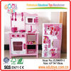 Lovely Pink Wooden Kitchen Toys Sets With Food Wooden Toys Kitchen