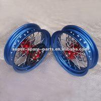 china alloy blue color motorcycle spoke wheel