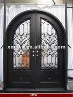 Exterior steel french security double door