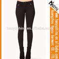 Imágenes de las mujeres en apretado orgánica leggings de mezclilla pantalones vaqueros pantalones vaqueros de moda( hy5109)