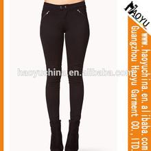 Cuadros verdaderos de mujeres en las polainas apretadas orgánico del dril de algodón de los pantalones vaqueros de moda los pantalones vaqueros ( HY5109 )