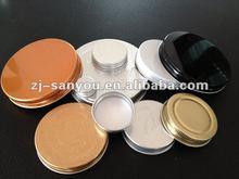 89mm/70mm/63mm/58mm /28mm/24mm/20mm aluminium screw cap for jar/bottle
