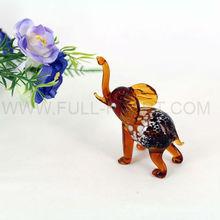 Mini Murano Blown Glass Elephant Figurine Elephant Ornament
