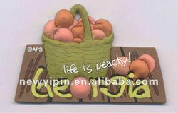 """2015 """"life is peachy"""" Georgia 3D effect PVC fridge magnet,promotional souvenir"""