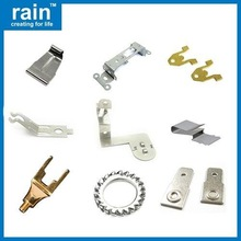 high quality white powder coated sheet metal fabrication punching parts