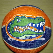 promotional rubber basketball balls in orange color