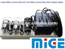 2 sets 400w electric motor kits and 1 set 750w servo kit