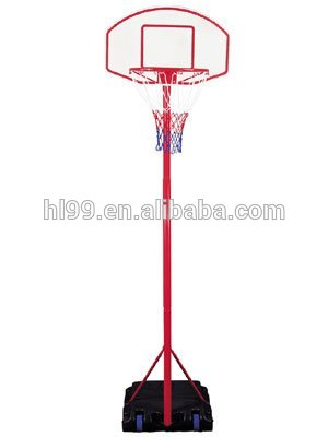 Junior portable plastic basketball hoop