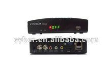 2013 newest satellite TV receiver original vivo box nuco.free sks.iks twin tuner.nagra3 1080hd in south america