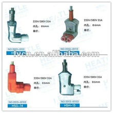 2012.HS.Electric right angle dc power plug(220 volt power plug)