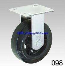 black rubber wheel heavy duty caster wheel rigid or swivel or swivel with brake