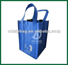 6 Bottles Recycle Non Woven Wine Bags,cheap non woven bottle packing bag,wine carrying bag