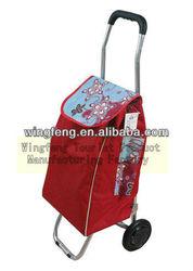folding shopping trolley bag with 2 wheels