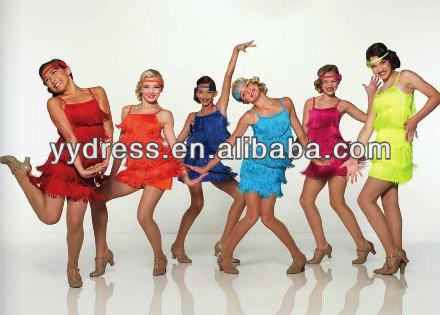 Nuevo estilo de baile latino de baile vestidos