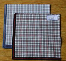 Men's checked handkerchief