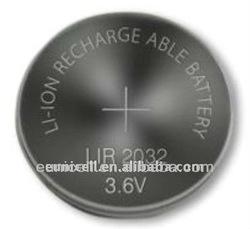 LIR batteries lir2032 3.6V button cell battery LIR2032 LIR2430 LIR2450