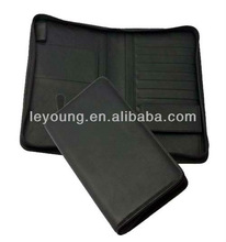 High Quality Leather travel passport wallet with coin pocket