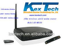 150Mbps 4 ports IPTV Broadband ADSL2+ Modem wifi router