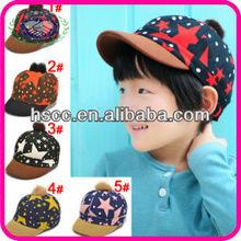 hot sale plush white dot five-point star cony hair bobble child baseball cap