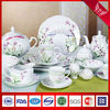 New wave shape with green floral in-glazed china ceramic fine porcelain tableware sets(SHZ3669)