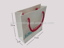 Embossed Logo Matt Chrome Paper Bag/Cheap Price Paper Bag With Cotton Rope