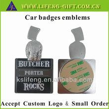 Custom 3D car badges emblems with 3M glue backed