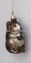 comely christmas gifts glass squirrel decorations