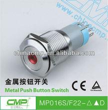 CMP 16mm waterproof metal momentary/latching led illuminated switch IP67