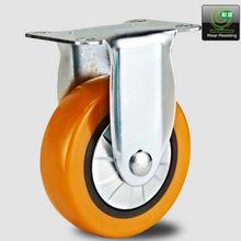2013 new medium duty orange polyurethane caster wheel