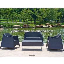 popular aluminium rattan sofa set outdoor furniture public place sofa(YPS039 )