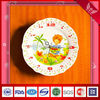 kids' design electronic wall clock with porcelain dial- 2013 New Arrival