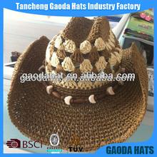 Fashion Mens Crochet Cowboy Straw Hats